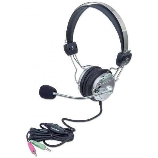 Manhattan 175517 Kopfhörer & Headset Kopfband Grau