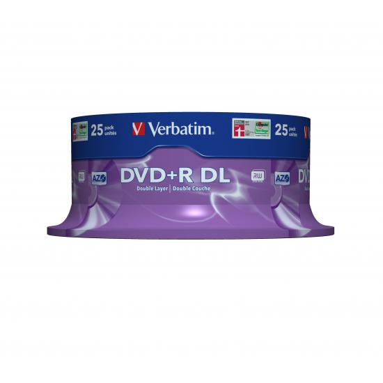 Verbatim DVD+R Double Layer 8x Matt Silver 25pk Spindle 8,5 GB DVD+R DL 25 Stück(e)