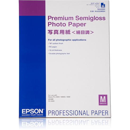 Epson Premium Semigloss Photo Paper, DIN A2, 250 g/m², 25 Blatt