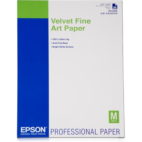 Epson Velvet Fine Art Paper, DIN A2, 260 g/m², 25 Blatt