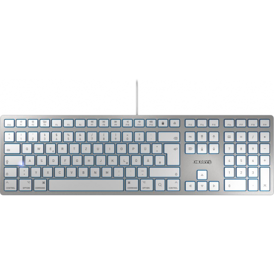 CHERRY KC 6000 SLIM FOR MAC Tastatur USB QWERTZ Deutsch Silber