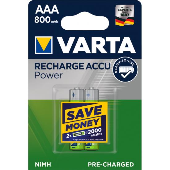 Varta Power Accu AAA 800 mAh Wiederaufladbarer Akku Nickel-Metallhydrid (NiMH)