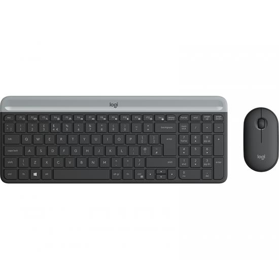 Logitech MK470 Tastatur RF Wireless QWERTZ Deutsch Graphit