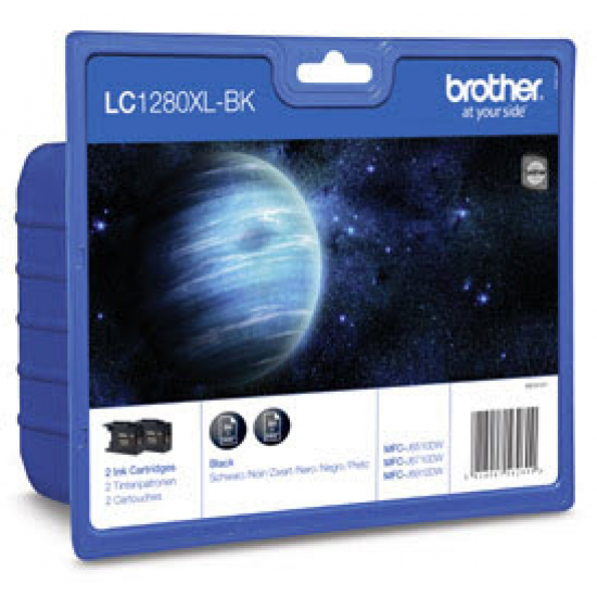 Brother LC-1280XLBKBP2DR Druckerpatrone Original Schwarz 2 Stück(e)