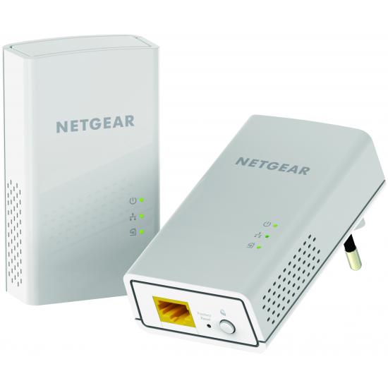 Netgear PL1000 1000 Mbit/s Eingebauter Ethernet-Anschluss Weiß 2 Stück(e)