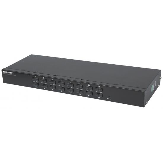 Intellinet 506496 Tastatur/Video/Maus (KVM)-Switch Rack-Einbau Schwarz