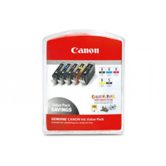 Canon CLI-8 Original Foto zyan, Foto magenta 5 Stück(e)