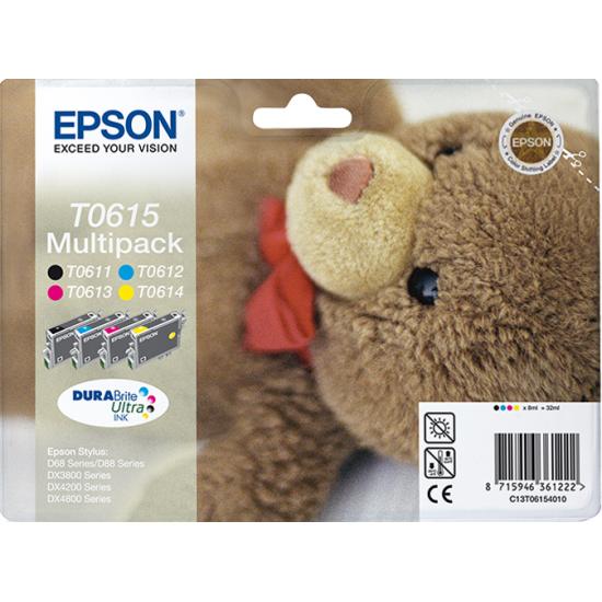 Epson Teddybear Multipack 4 Farben T0615, DURABrite Ultra Ink