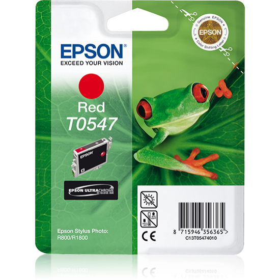 Epson Singlepack Red T0547 Ultra Chrome Hi-Gloss