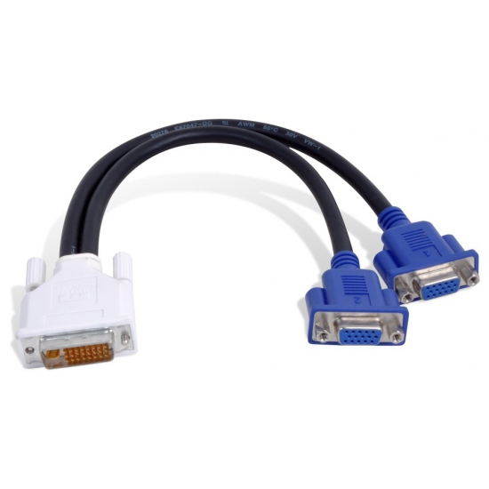 Matrox DVI-I - HD15 2 x VGA (D-Sub) Schwarz