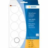 HERMA Verschlussetiketten Ø 32 mm rund transparent extrem stark haftend Folie matt 240 St.