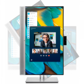 HP EliteDisplay E243m LED display 60,5 cm (23.8 Zoll) 1920 x 1080 Pixel Full HD Flach Schwarz, Silber