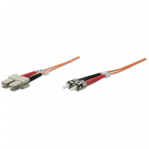 Intellinet 1m ST/SC Glasfaserkabel OM1 Orange