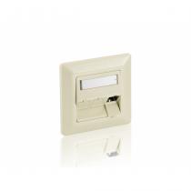 Equip 761304 Wandplatte/Schalterabdeckung Weiß