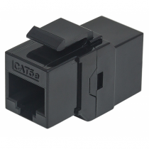 Intellinet Cat5e Inline-Kupplung, Keystone-Modul, 8P8C Buchse auf 8P8C Buchse, UTP, schwarz