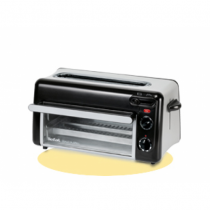 Tefal TL 6008 Toaster 2 Scheibe(n) Aluminium, Schwarz 1300 W