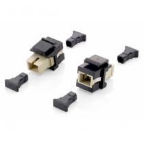 Equip 125572 LWL-Steckverbinder SC Beige, Schwarz 8 Stück(e)
