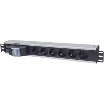 Intellinet 711432 Stromverteilereinheit (PDU) 1.5U Schwarz, Grau 6 AC-Ausgänge