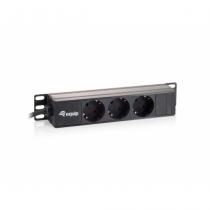 Equip 333299 Stromverteilereinheit (PDU) 1U Schwarz 3 AC-Ausgänge
