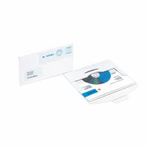 HERMA CD-PostPack Versandkuvert mit Steckverschluss weiß 220x124 mm Karton 200 St.