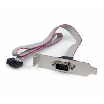 StarTech.com 1 Port Seriell DB9 Slotblech mit 10 Pin Pinheader Kabel - Low Profile