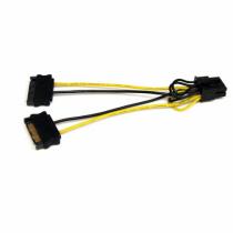 StarTech.com 15cm SATA Strom auf 8 pin PCI Express Grafikkarten Stromkabel - PCIe Y-Kabel Adapter