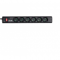 Eaton PS6TD Spannungsschutz 6 AC-Ausgänge 220 - 250 V Schwarz, Weiß 1 m