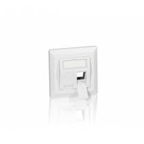 Equip 761303 Wandplatte/Schalterabdeckung Weiß