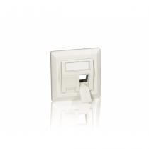 Equip 760303 Wandplatte/Schalterabdeckung Weiß