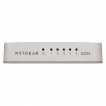 Netgear GS205 Unmanaged Gigabit Ethernet (10/100/1000) Weiß