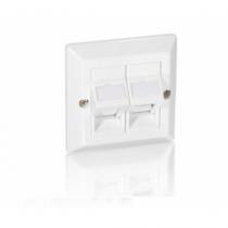 Equip 760301 Wandplatte/Schalterabdeckung Weiß