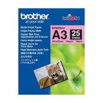 Brother BP60MA3 Inkjet Paper Druckerpapier A3 (297x420 mm) Matte 25 Blätter Weiß