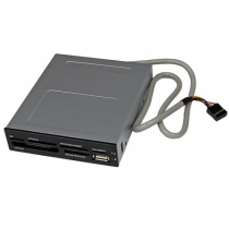 """StarTech.com Interner USB 2.0 Kartenleser 3,5"""" - 22-in-1 Front Panel Card Reader"""