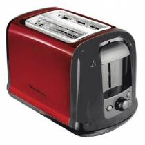 Moulinex Subitor Toaster 2 Scheibe(n) Schwarz, Rot 850 W