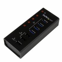 StarTech.com 4 Port USB 3.0 Hub plus 3 Ladeanschlüsse (2x 1A & 1x 2A) - Metallgehäuse zur Wandmontage
