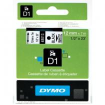 DYMO D1 - Standardetiketten - Schwarz auf Weiß - 12mm x 7m
