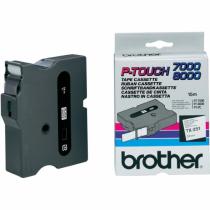 Brother TX-251 Etiketten erstellendes Band Schwarz auf weiss