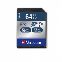 Verbatim Pro Speicherkarte 64 GB SDXC Klasse 10 UHS