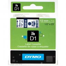 DYMO D1 - Standardetiketten - Blau auf Weiß - 12mm x 7m