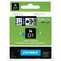DYMO D1 - Standardetiketten - Schwarz auf Transparent - 9mm x 7m