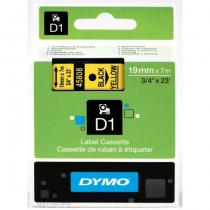 DYMO D1 - Standardetiketten - Schwarz auf Gelb - 19mm x 7m