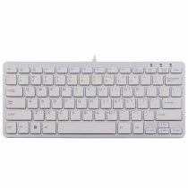 R-Go Tools R-Go Compact Tastatur, QWERTY (US), weiß, kabelgebunden