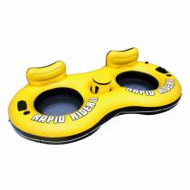 Bestway 43113 Aufblasbares Spielzeug für Pool & Strand Schwarz, Gelb Schwimmsitz Vinyl