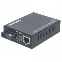Intellinet 545075 Netzwerk Medienkonverter 1000 Mbit/s 1550 nm Einzelmodus Schwarz