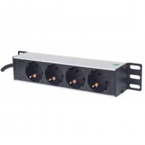 Intellinet 714020 Stromverteilereinheit (PDU) 1U Grau 4 AC-Ausgänge