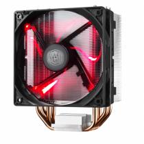 Cooler Master Hyper 212 LED Prozessor Kühler 12 cm Schwarz, Metallisch, Rot