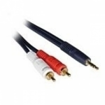 C2G 10m Velocity 3.5mm Stereo Male to Dual RCA Male Y-Cable Audio-Kabel 2 x RCA Schwarz