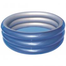 Bestway Grosses 3-Ring-Planschbecken Metallic