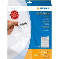 HERMA Diahüllen für Kleinbild-Dias, Folie klar/matt 100 Hüllen