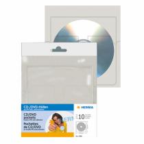 HERMA CD/DVD-Hüllen, 129x130 mm 10 Hüllen